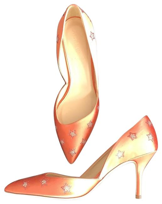 Item - Coral With Crystal Stars Pumps Size US 7.5 Regular (M, B)