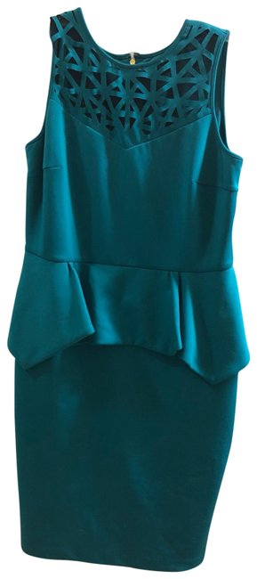 Item - Teal Mid-length Night Out Dress Size 12 (L)