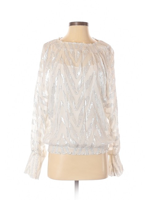 Item - Silver XS Long Sleeve Blouse Size 2 (XS)