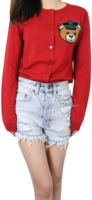 "Item - Red ""Biker Teddy Bear"" /Red Cardigan Size 0 (XS)"