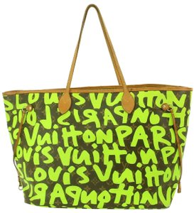 Louis Vuitton Tote in Neon Green Monogram Rare