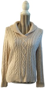 Jeanne Pierre Knit Chunky Collared Sweater