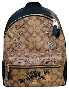 Coach Floral Vintage Style Signature Disney Sleeping Beauty Backpack