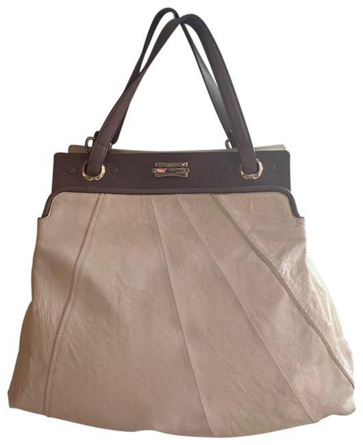 Item - Bag White and Taupe Leather Tote
