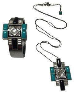 Lia Sophia New Lia Sophia Nouvelle Cuff AND Necklace - Package Deal!