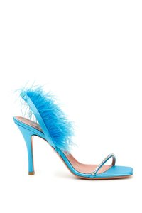 Amina Muaddi Adwoasandalcryst Blu Light blue Sandals