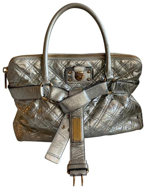 Item - Quilted Silver Leather Satchel