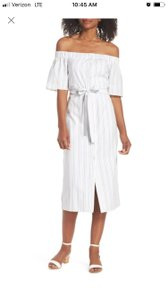 White striped Maxi Dress by Charles Henry