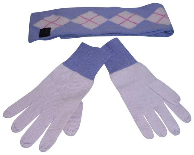 Item - Lilac and Lavender Cashmere Double Sided Gloves Set Scarf/Wrap