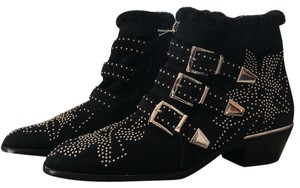 Chloé black with silver accents Boots