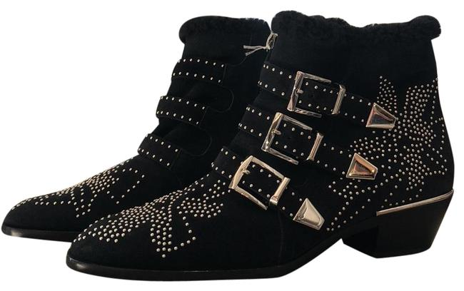 Item - Black with Silver Accents Ankle Boots/Booties Size EU 39 (Approx. US 9) Regular (M, B)