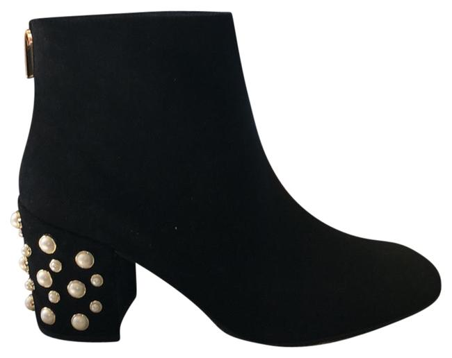 Item - Black with Pearl and Gold Detail Boots/Booties Size US 9.5 Regular (M, B)