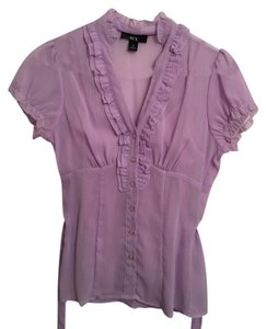 BCX Sheer Light Lilac Top Lilac/lavender