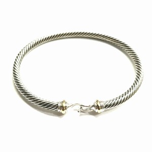 David Yurman GOREGEOUS!! David Yurman Buckle Bangle Bracelet Cable Collection 18 Karat Yellow Gold and Sterling Silver