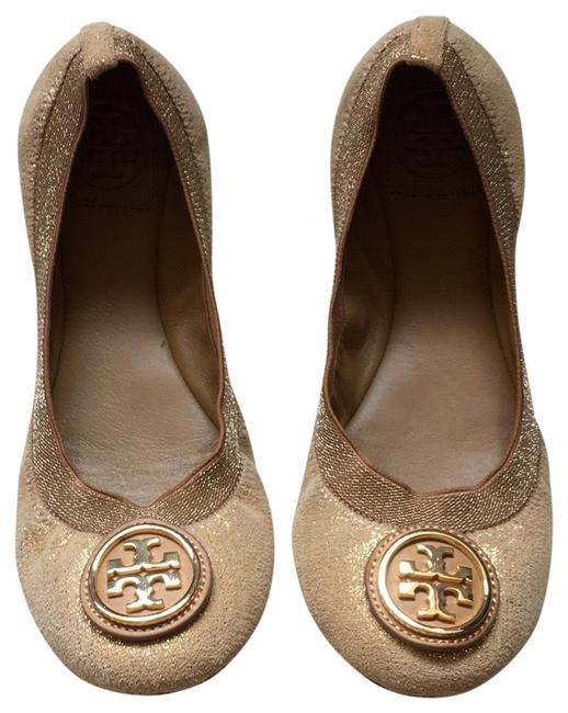 Item - Gold Flats Wedges Size US 7 Regular (M, B)