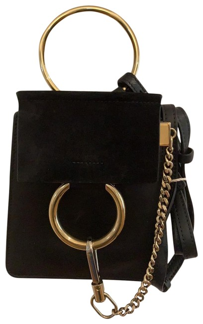 Item - Faye Small Black Leather and Suede Cross Body Bag