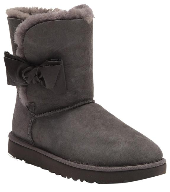 Item - Gray Daelyn Bow Short Suede Shearling Boots/Booties Size US 11 Regular (M, B)