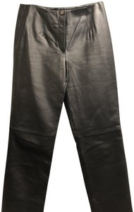 Metro Style Boot Cut Pants Black Leather