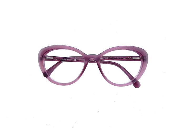 Item - Matte French Purple Plum Ch 3253-h C.1414 54mm Pearl Cats Eye Eyeglasses Rx Frames