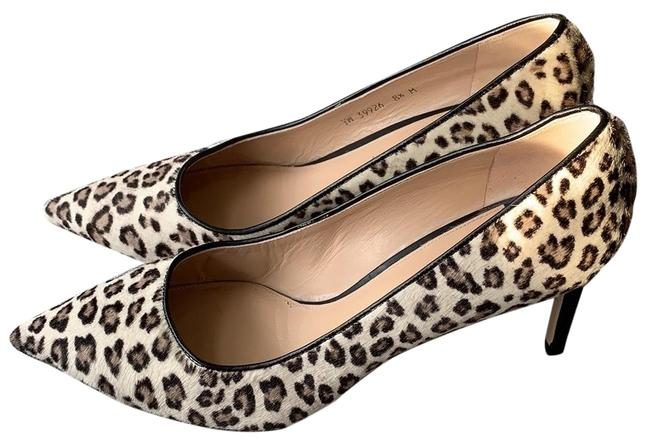 Item - Leopard Pattern Calf Hair Leigh 70 Grey Spotted Pumps Size US 8.5 Regular (M, B)