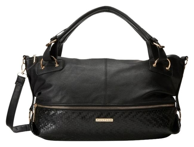 Item - Black Synthetic Leather Satchel