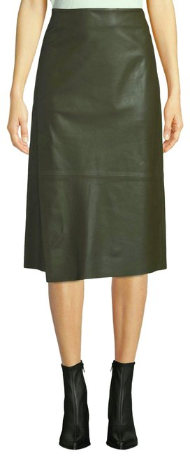 Item - Olive/Brown with Tag Leather Skirt Size 8 (M, 29, 30)