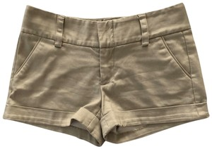 Alice + Olivia Cuffed Shorts Brown