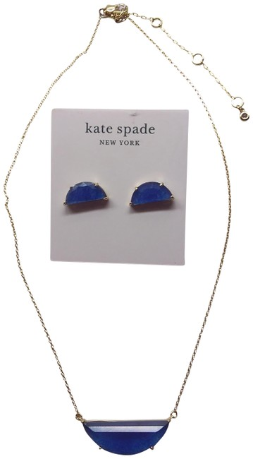Item - Royal New Blue Semi-circle Necklace and Earrings
