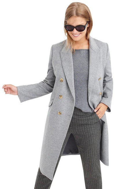 Item - Grey Nwt. Long Topcoat In Wool-cashmere Coat Size 2 (XS)