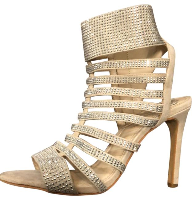 Item - Nude / Silver Caged Formal Shoes Size US 7.5 Regular (M, B)