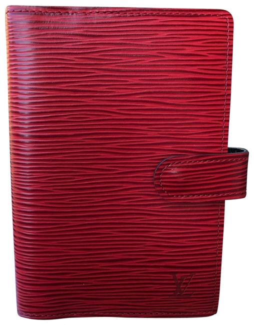 Item - Red Epi Leather Agenda