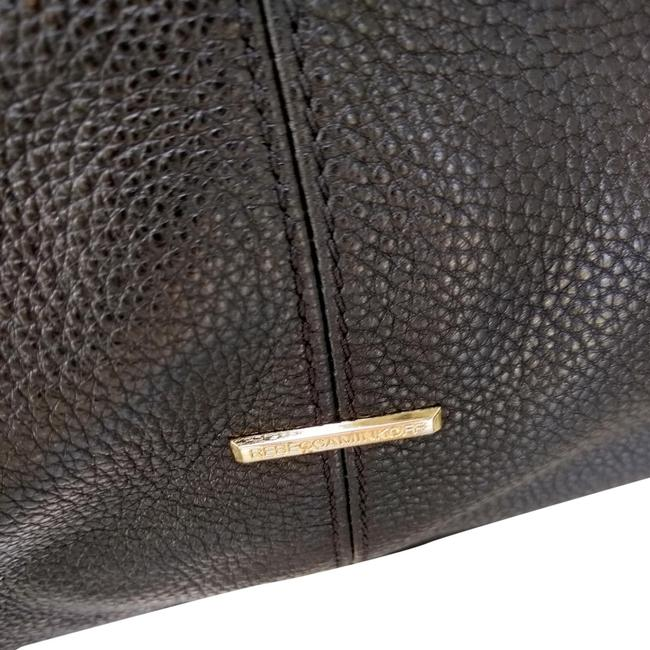 Item - Black Tumbled Leather Gold Tone Hardware Hobo Bag