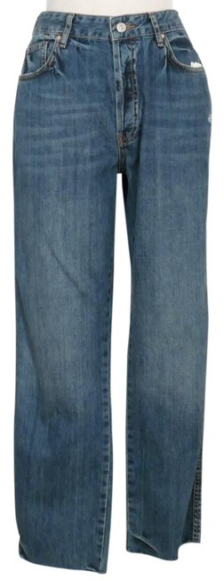Item - Blue Distressed Slim Crop Boyfriend Cut Jeans Size 31 (6, M)