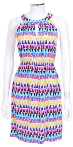 Kate Spade short dress Multi Color Geometric Print Silk on Tradesy