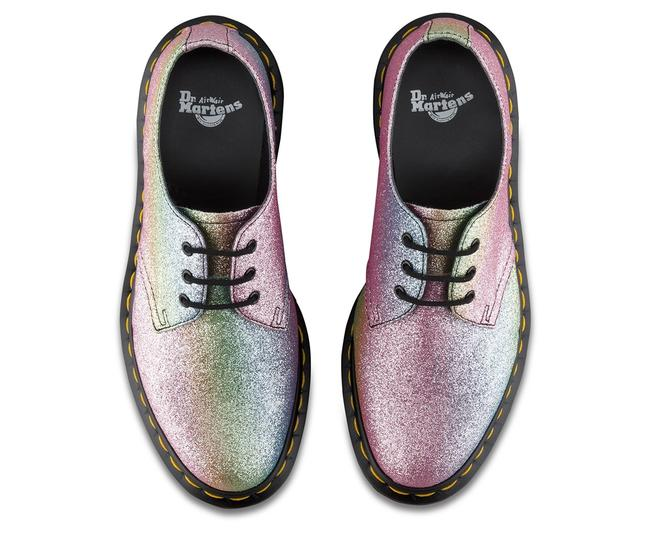 Item - Pink Multi 1461 3 Eye Glitter Lace Up Loafers Flats Size US 5 Regular (M, B)