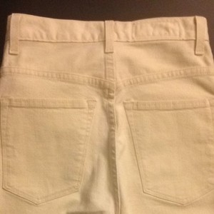 Imogene + Willie Elizabeth Made In The Usa High Waisted Straight Pants Creamy White