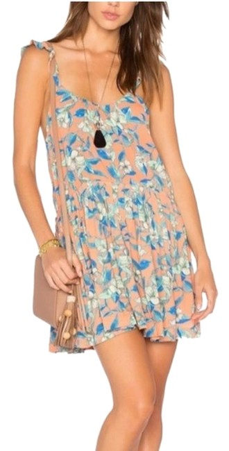 Preload https://img-static.tradesy.com/item/26182867/free-people-orange-blue-dear-you-short-casual-dress-size-12-l-0-1-650-650.jpg