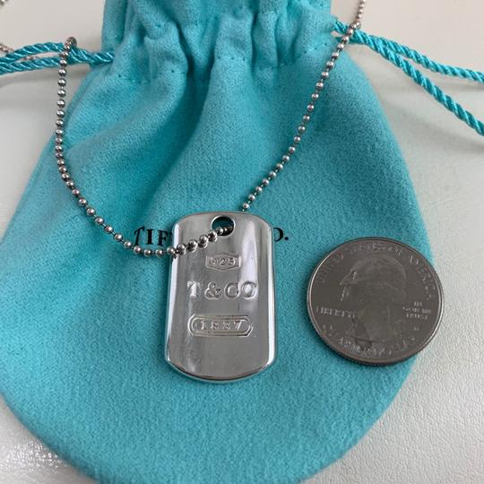 Tiffany & Co. 1837 Sliver T Rectangle Dog Tag 18
