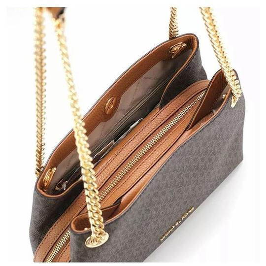 Michael Kors Chain Shoulder Signature Tote in Brown Image 2
