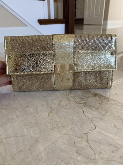 Jimmy Choo Anna Anka. Bags Fashion Gold Clutch Image 4