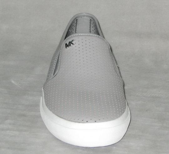 MICHAEL Michael Kors Sneakers Leather Sneakers Double Gore Lasered Leather Gray Flats Image 2