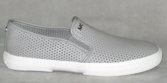 MICHAEL Michael Kors Sneakers Leather Sneakers Double Gore Lasered Leather Gray Flats Image 1