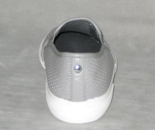 MICHAEL Michael Kors Sneakers Leather Sneakers Double Gore Lasered Leather Gray Flats Image 4