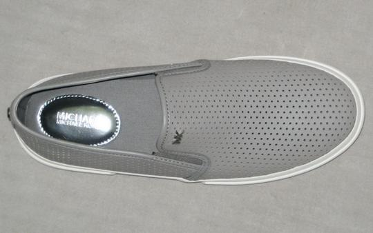 MICHAEL Michael Kors Sneakers Leather Sneakers Double Gore Lasered Leather Gray Flats Image 5
