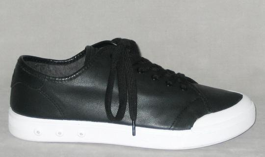 Rag & Bone Sneakers Leather Sneakers Leather Low-top Black, White Flats Image 1