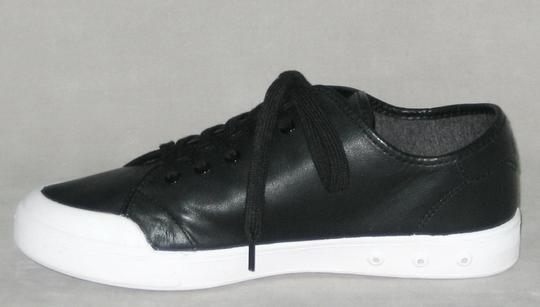 Rag & Bone Sneakers Leather Sneakers Leather Low-top Black, White Flats Image 3