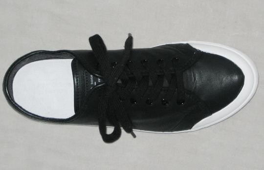 Rag & Bone Sneakers Leather Sneakers Leather Low-top Black, White Flats Image 5