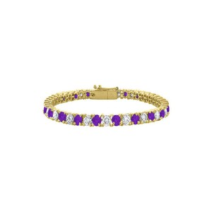 Marco B Amethyst and Cubic Zirconia Tennis Bracelet with 10CT TGW