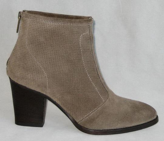Aquatalia Made In Italy Suede Ankle Ankle Khaki Boots Image 1