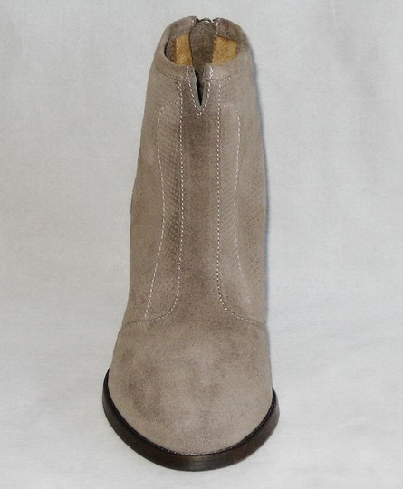 Aquatalia Made In Italy Suede Ankle Ankle Khaki Boots Image 2